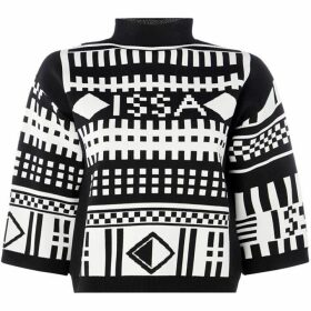ISSA Knitted Geo Issa Top