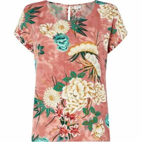 JDY Round Neck Short Sleeve Floral Top