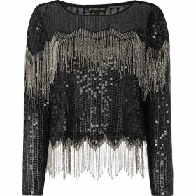 Biba Embellished Tassel Long Sleeve Top