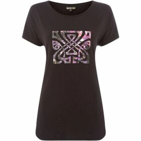 Biba Magenta dark jungle jersey tee