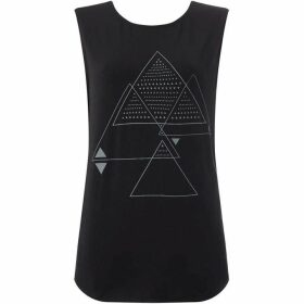 Label Lab Reflective triangle cross back top