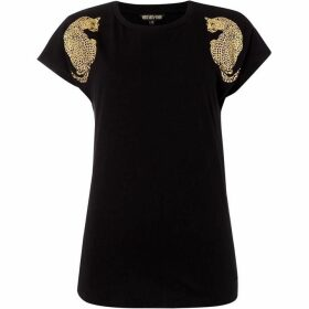 Biba Leopard shoulder jersey top