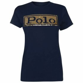 Polo Ralph Lauren Sequin Logo Short Sleeve Tee