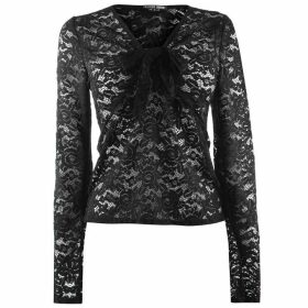 Fashion Union Fashion Marnie Long Sleeve Lace Top