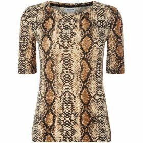 Noisy May Snake Print Short Sleeved Top