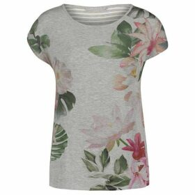 Betty Barclay Floral And Stripe Top