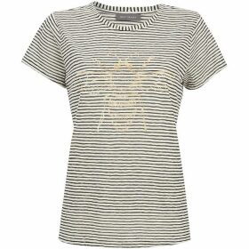 Mint Velvet Striped Bee Foil Print Tee