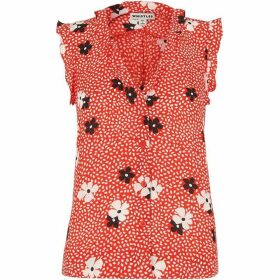 Whistles Confetti Floral Frill Top