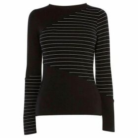 Karen Millen Striped Panel T-Shirt
