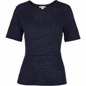 Whistles Linen Peplum T-shirt