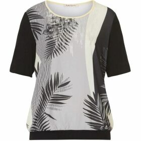 Betty Barclay Palm leaf print top