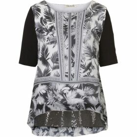 Betty Barclay Print and sequin tunic top