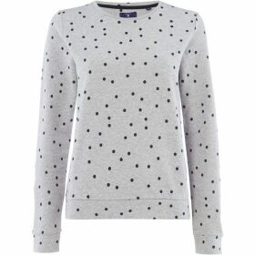 Gant Jersey dotted crew-neck sweater