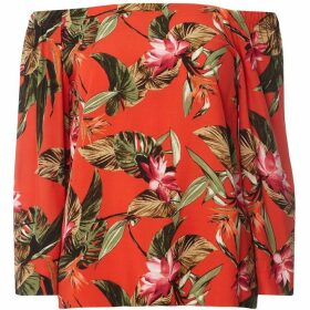 Dorothy Perkins Tropical Bardot Top