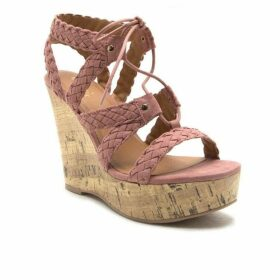 Qupid Kelsey strappy wedge with tie