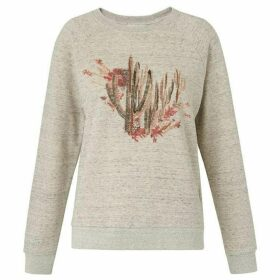 Whistles Cactus Embroidered Sweat