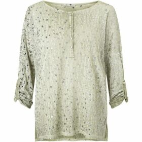 James Lakeland Metallic Print Top
