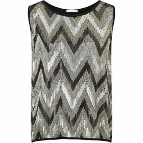 James Lakeland Zag Sequin Top