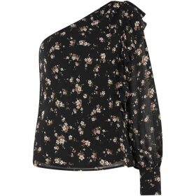 Bardot Shape Floral Top