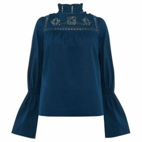 Free People Another Eternity Gathered bell Sleeve Top
