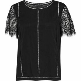 French Connection Classic Crepe Lace T-Shirt