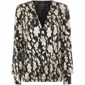Vero Moda Long Sleeved Foil Wrap Top