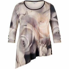Chesca Misty Rose Asymmetric Tunic