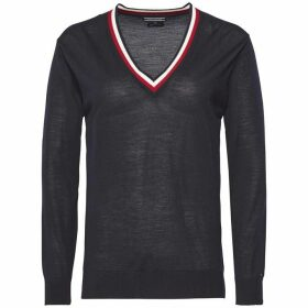 Tommy Hilfiger Adana Tipping V-Neck Sweater