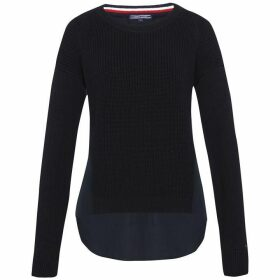 Tommy Hilfiger Abella Fabric Mix Crew-Neck Sweater