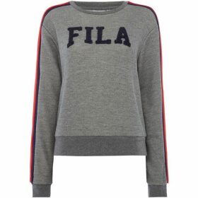 Fila Logo W/Stripe Shoulders Sweat