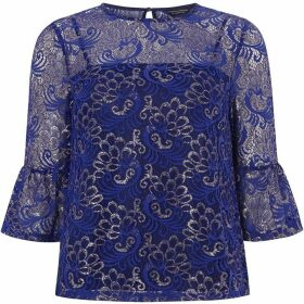 Dorothy Perkins Lace Flute Sleeve Top