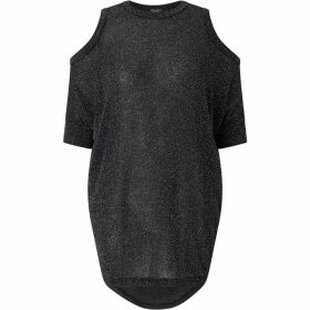 James Lakeland Cold Shoulder Lurex Top