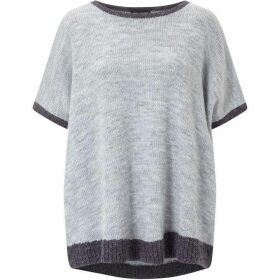 James Lakeland Contrast Hem Knit Top