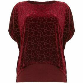 Phase Eight Selma Spot Velvet Burnout Top