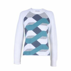 Stefanel Inlay Pattern Wool Sweater