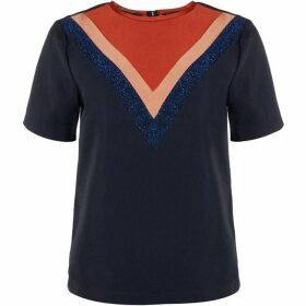 Maison Scotch Colour Block Woven Top