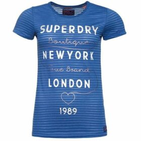 Superdry Glitter Burnout Stripe T-Shirt