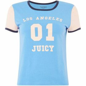 Juicy Couture Los Angeles Color Block Short Sleeve Logo T-Shirt