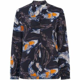 Whistles Caroline Koi Carpe Silk Top