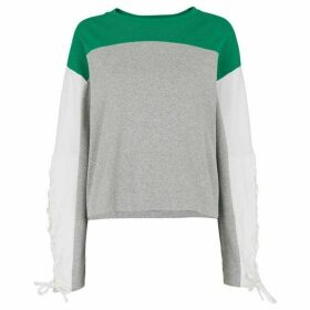 Whistles Tie Sleeve Colourblock Sweat