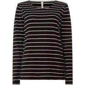 Maison De Nimes Long- Sleeve Jersey Stripe Top