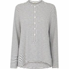 Whistles Stripe Cotton Jersey Shirt
