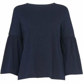 Whistles Gathered Sleeve Tee
