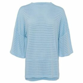French Connection Beka Sheer Rib Jersey Top