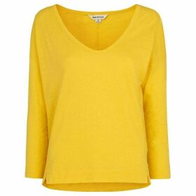 Whistles Cotton Scoop Neck Top