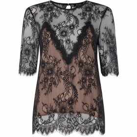 Bardot Luna lace top