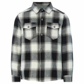 Benetton Long Sleeve Cotton Check Shirt