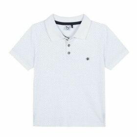 3 Pommes Kid Boy White Polo Shirt