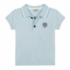 Kenzo Baby Boy Polo Shirt Bleu Ciel