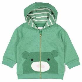 Polarn O Pyret Babies Bear Applique Hoodie